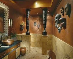 african decorating ideas powder room tropical with bathroom tile
