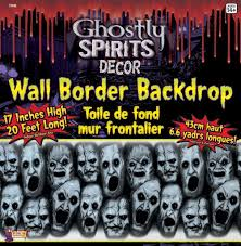 halloween scene setters decorations 20ft ghostly spirit wall border halloween scene setter party