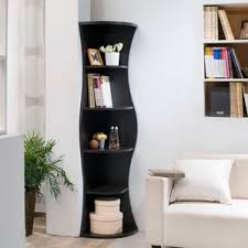 black bookcases with glass doors corner bookcases you u0027ll love wayfair