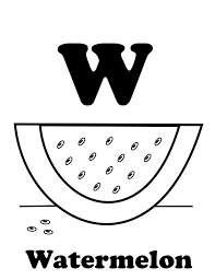 w is for watermelon free alphabet coloring pages alphabet