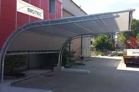 tettoia autoportante biotec coperture coperture e pensiline su misura in metallo