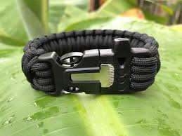 survival bracelet with whistle buckle images Whistle buckle fire starter survival straps jpg