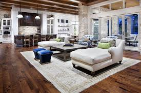 kitchen living room combo floor plans exposed polished dark beam
