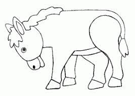 donkey coloring pages kids preschool kindergarten