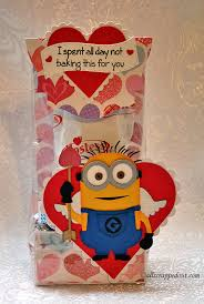 cupid minion valentine treat bag