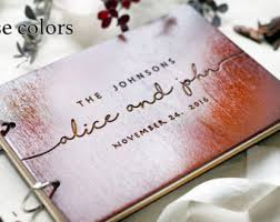 engravable wedding guest book engraved guestbook etsy