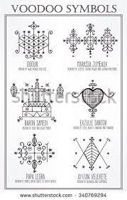 voodoo spirits symbols set seals main stock vector 340769294