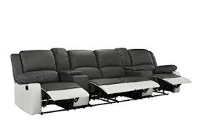 Four Seater Recliner Sofa 4 Seat Large Classic Recliner Sofa With Cup Holders