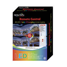 lights 80 remote led color changing icicle