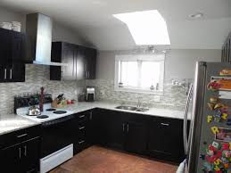 Black Shaker Kitchen Cabinets Open Air Kitchen With Skylight Mocha Shaker Cabinets Rta