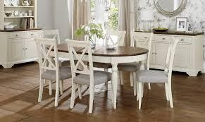 White Parsons Dining Table Oval Dining Table Set For Foter 6 Seater Oval Dining Table And