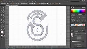 how to make logo in illustrator speed letter u0027 s u0027 design youtube