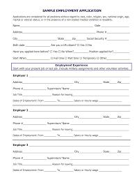 Resume Format Job Application by Job Application Template Sample Job Application Template Sample