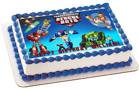 transformers rescue bots 1 edible cake or cupcake topper edible