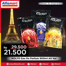Parfum Di Alfamart alfamart molto eau de parfum 900ml cuma rp 21 500 info