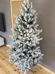 pre lit christmas tree 6ft snow effect pre lit christmas tree new boxed in derby