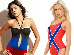 Rebel Flag Swimsuits Voenpro Sells Bikinis With Ukrainian Separatist Flag Business