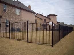 flat rail wrought iron fences apple fence company