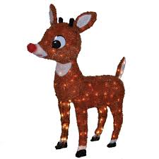 rudolph rednosed reindeer 10555sr 32in 3d soft tinsel