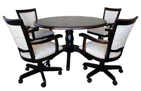 dinette table and chairs with casters dining room sets with wheels on chairs jcemeralds co
