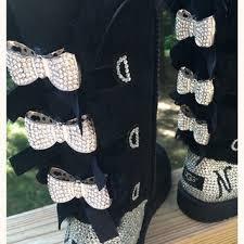 ugg bailey knit bow sale custom order black bailey bow ugg from sweetsuzisparkles