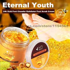 Scrub Gold 24k gold foot chamfer exfoliator foot scrub grind arenaceous