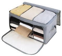 t shirt organizer sunky foldable storage bag breathable bamboo fabric dustproof