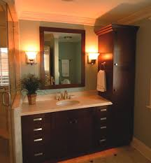 Bathroom Linen Cabinets The Cabinets Vanity Linen Closet Cabinet Some Bathroom