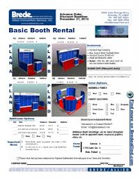 brede allied custom booths basic booth rental p l a