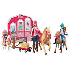 barbie pink passport horse stable gift mattel toys