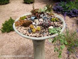 Flower Pot Bird Bath - broken bird bath plant it empress of dirt