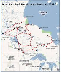Henry Hudson Route Map by Small Pox And The Cree Brian Altonen Mph Ms