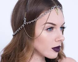 chain headpiece festival headpiece etsy