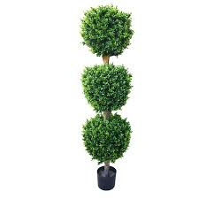 artificial ficus tree with variegated leaves and