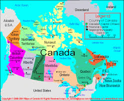 canada states map map of canada with capital cities and provinces major
