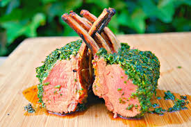Rack Of Lamb On Grill How To Roast A Rack Of Lamb Lamb Carre Lamb Chops Lamb Loin