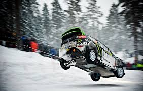 snow cars ford jumping fiesta rally ken block ford fiesta