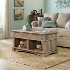 amazon com sauder harbor view lift top coffee table in salt oak