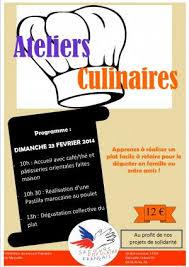 affiche atelier cuisine secours populaire archivé atelier culinaire fédération des
