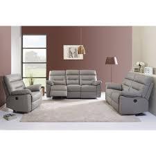 ensemble canape 3 et 2 places ensemble canapé 3 2 places en cuir et pvc avec relax électrique
