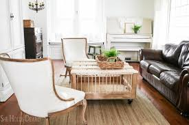 farmhouse living room reveal she holds dearly