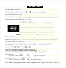dinner order form template wedding itinerary template 40 free word pdf documents