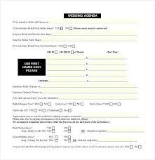 wedding agenda sample free downloadable wedding timeline template