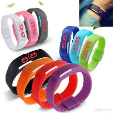 led rubber bracelet images Fashion led sport watch waterproof soft led touch watch silicone jpg