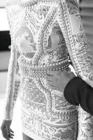 embellished dress dress sleeves balmain pearl texture embellished studs