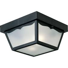 Outdoor Flush Mount Ceiling Light Progress Lighting 2 Light Black Outdoor Flushmount P5745 31 The