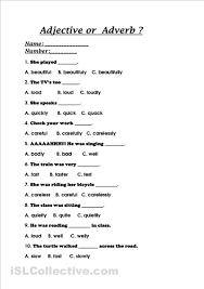 8th grade adjectives and adverb worksheets 8th grade adjectives