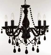 Plastic Crystals For Chandeliers 5 Light Black Chandelier Editonline Us