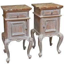 pair of french limed oak bedside cabinets at 1stdibs