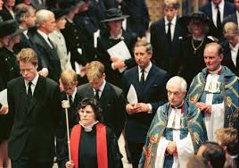 diana burial family of princess diana at funeral photos 19 years later the